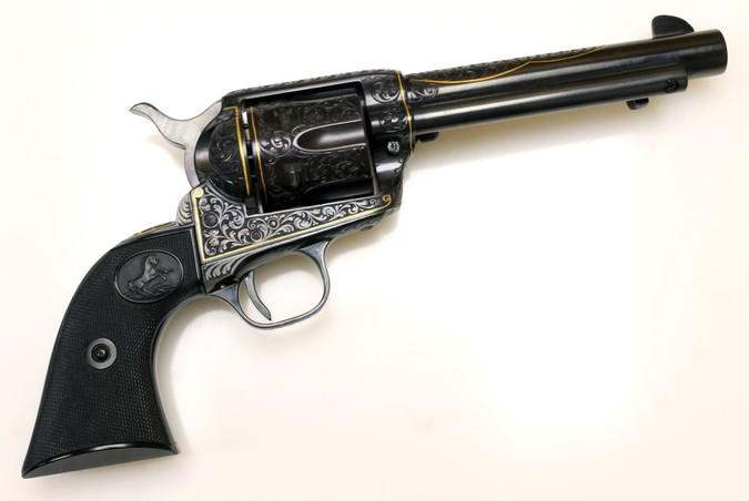 Revolver Colt, Modell: Single Action Army 2nd Generation - Werksgravur!