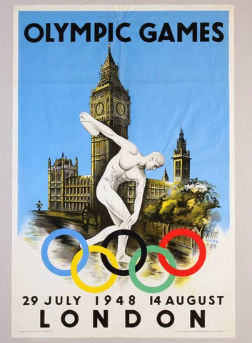 England - Originalplakat Olympiade London 1948